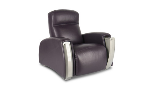 Front-view of Lucerne home theater lounger