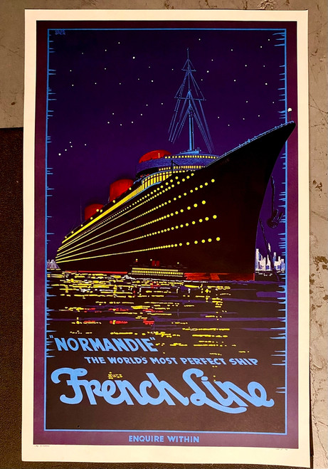 Normandie French Line Poster Fine Art Lithograph