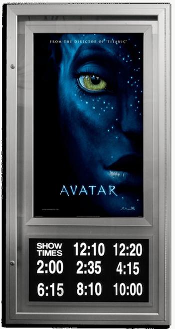 Showtime lumina backlit lockable movie poster case