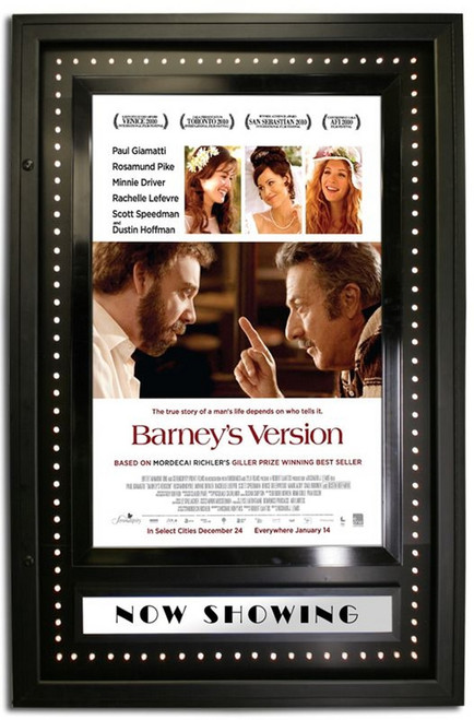 Starlite series backlit lockable movie poster case with chase lights