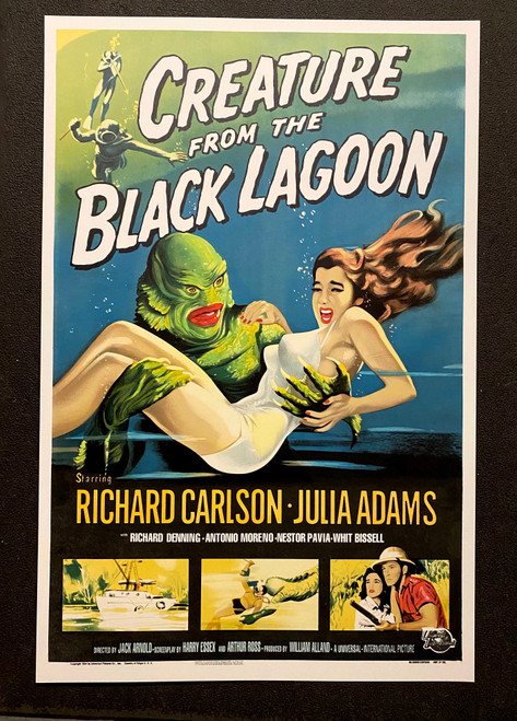 Creature From the Black Lagoon 1954 Movie Poster Lithograph