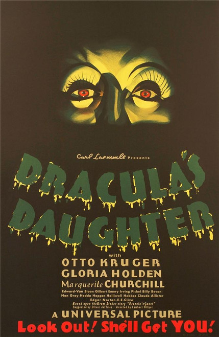Dracula's Daughter 1936 Movie Poster Fine Art Lithograph