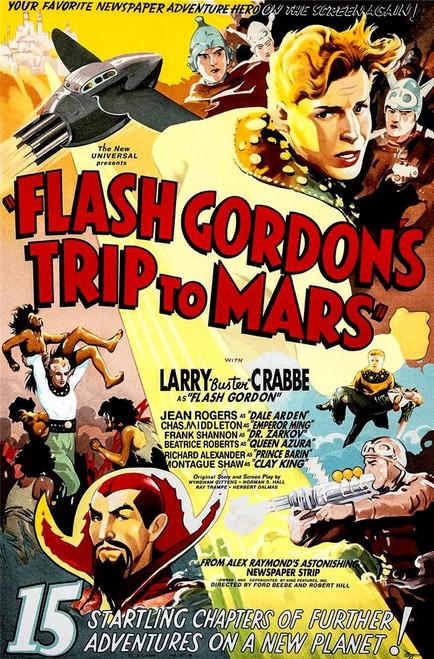 Flash Gordons Trip to Mars 1938 Movie Poster Fine Art Lithograph
