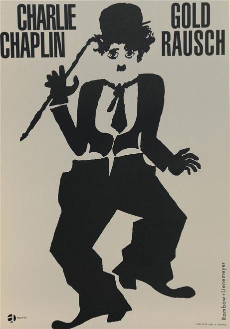 Charlie Chaplin 1960 German Gold Rausch Movie Poster Fine Art Lithograph