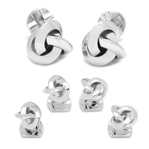 Sterling Silver Love Knot Stud Set