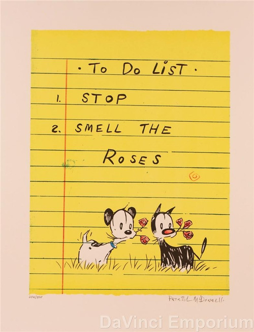To Do List Stop and Smell the Roses by Patrick McDonnell