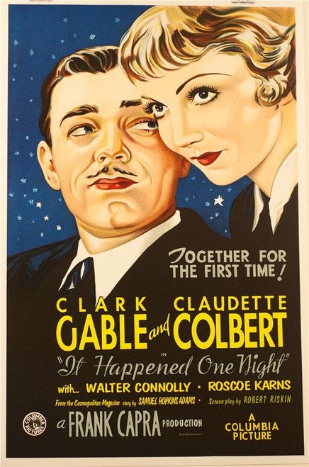 It Happened One Night 1934 Movie Poster Fine Art Lithograph