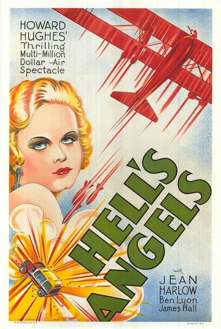 Hell's Angels 1930 Movie Poster Fine Art Lithograph
