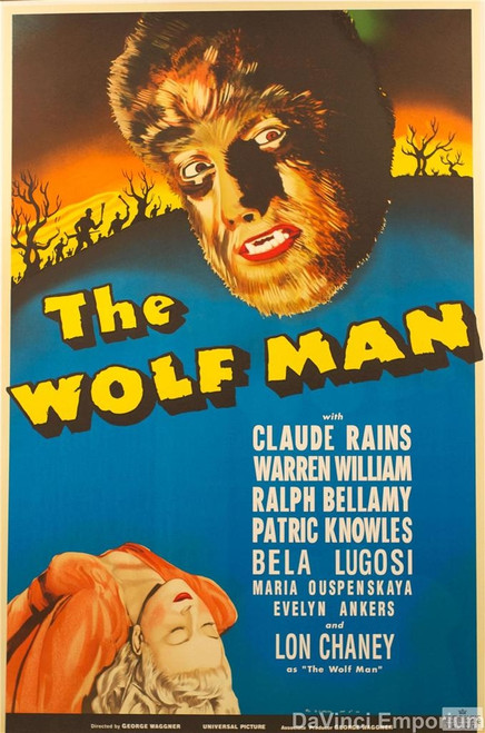 The Wolf Man 1941 Movie Poster Fine Art Lithograph