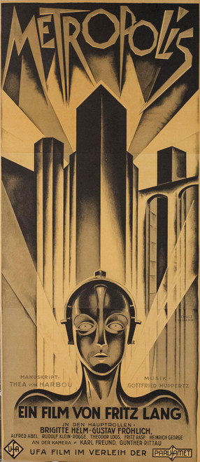 Metropolis 1927 3 Sheet Movie Poster Lithograph