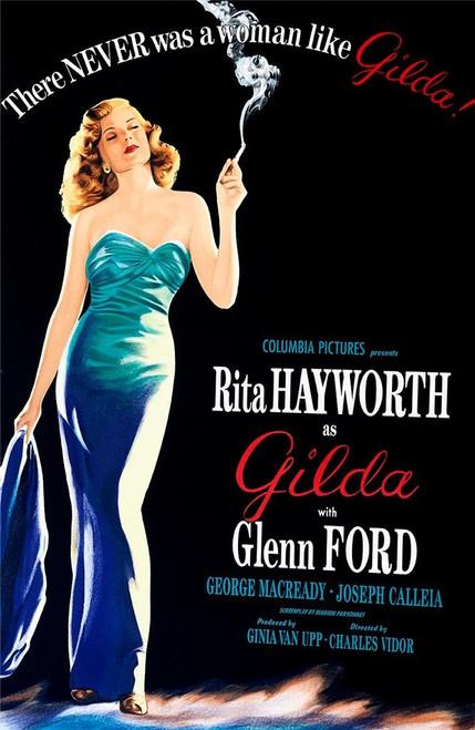 Gilda 1946 Movie Poster Fine Art Lithograph