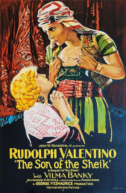 The Son of the Sheik 1926 Movie Poster Fine Art Lithograph