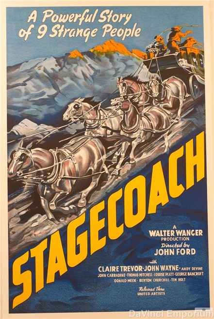 Stagecoach 1939 Movie Poster Lithograph