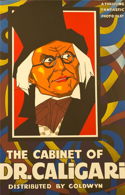 The Cabinet of Dr Caligari 1920 Movie Poster Fine Art Lithograph