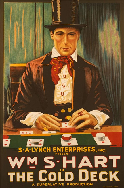 The Cold Deck 1917 Movie Poster Fine Art Lithograph