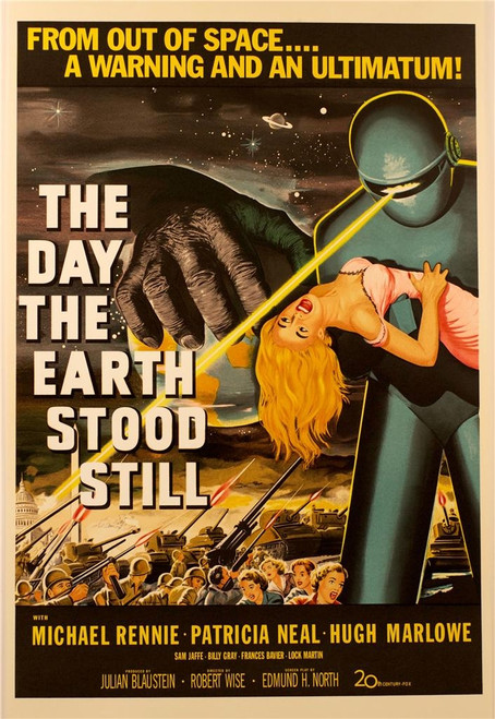 The Day the Earth Stood Still 1951 Movie Poster Lithograph