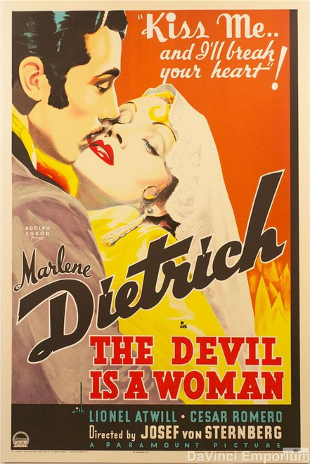 The Devil is A Woman 1935 Movie Poster Fine Art Lithograph