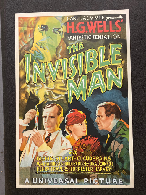 The Invisible Man 1933 Movie Poster Lithograph