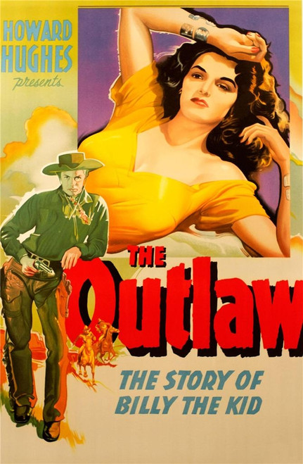 The Outlaw 1943 Movie Poster Fine Art Lithograph