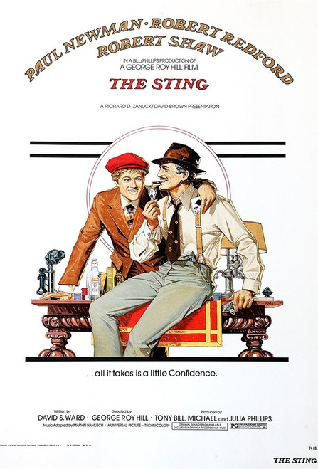 The Sting 1973 Movie Poster Fine Art Lithograph