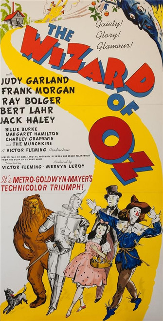 The Wizard of Oz 1939 3 Sheet Poster Lithograph