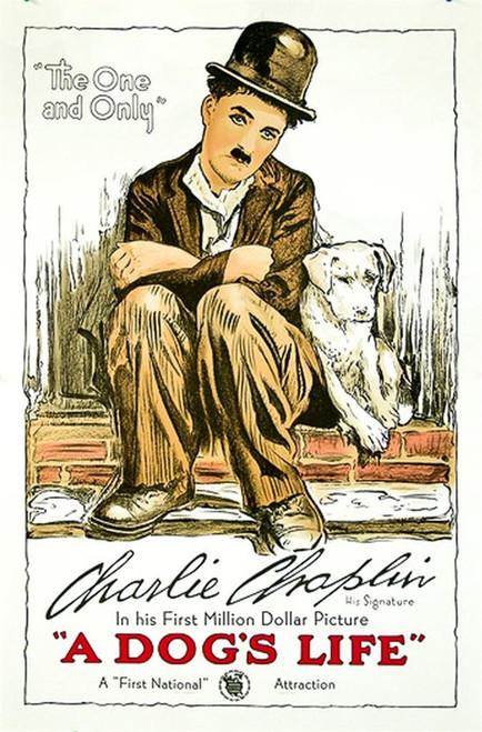 Charlie Chaplin A Dog's Life 1918 Movie Poster Fine Art Lithograph