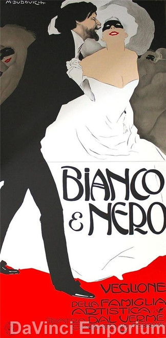 Bianco e Nero 2 Sheet Poster Lithograph