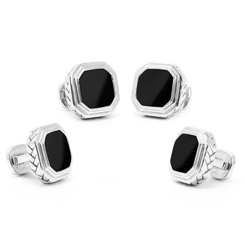 Sterling Silver Onyx Opus Studs
