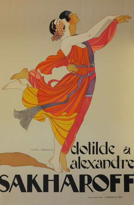 Clotilde and Alexandre Sakharoff Lithograph