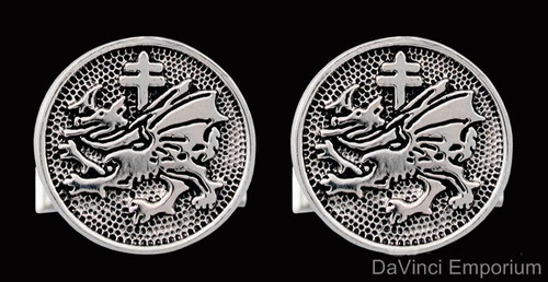 Sterling Silver Order of the Dragon Cufflinks