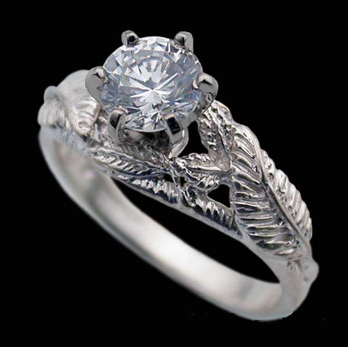 14K White Gold Nenya Ring