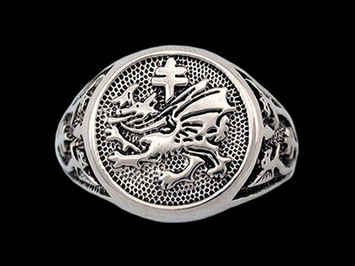 Order of the Dragon Signet Ring in Sterling Silver