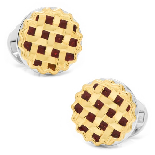 Sterling Silver Pie Cufflinks