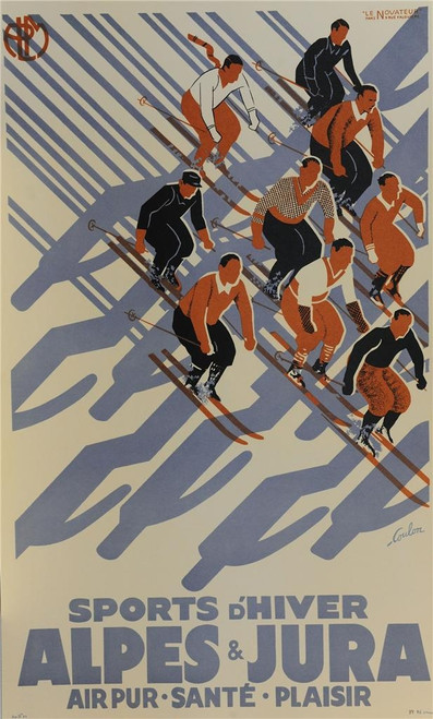 Sports D'hiver Lithograph