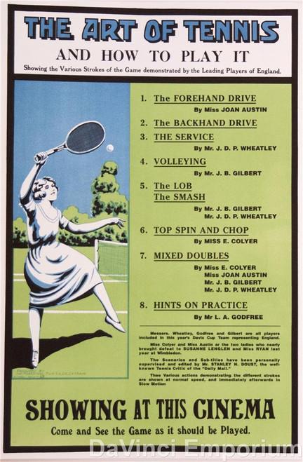 The Art of Tennis Poster Fine Art Lithograph