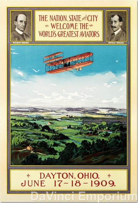The Wright Brothers Homecoming Poster Fine Art Lithograph