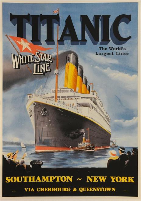 Titanic White Star Line Poster Fine Art Lithograph