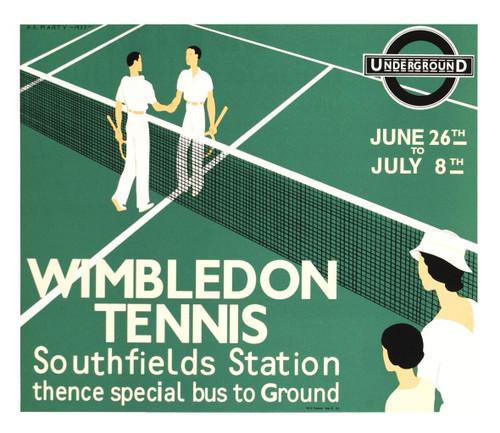 Wimbledon Tennis Poster Fine Art Lithograph