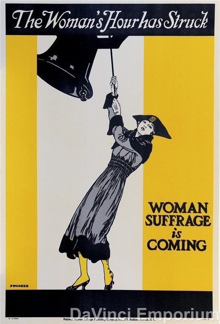The Woman's Hour Has Struck Poster Fine Art Lithograph
