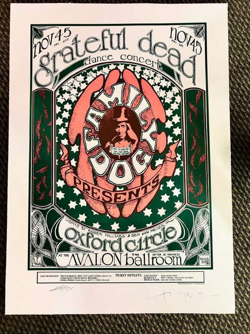 Grateful Dead Oxford Circle Lithograph by Stanley Mouse and Alton Kelley