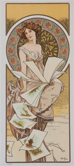 Alphonse Mucha Champenois Calendar Lithograph