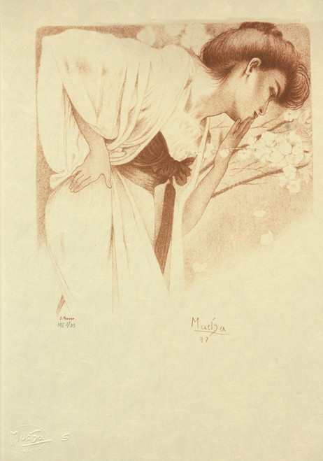 Alphonse Mucha Melancolie Museum Edition Lithograph