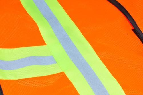 41113 Industrial Safety Vest, Neon Orange, Sold by each- 1 Piece