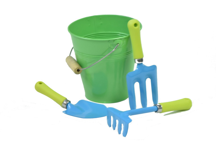 JustForKids 10051 Kids Water Pail with Garden Tools Set