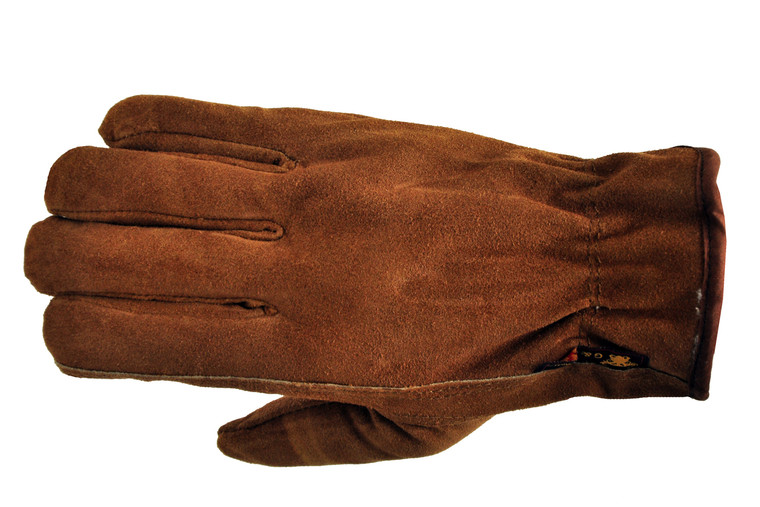 6454 Suede Cowhide Leather Work Gloves w/ Pile Lining, Sold by each- 3 Pairs