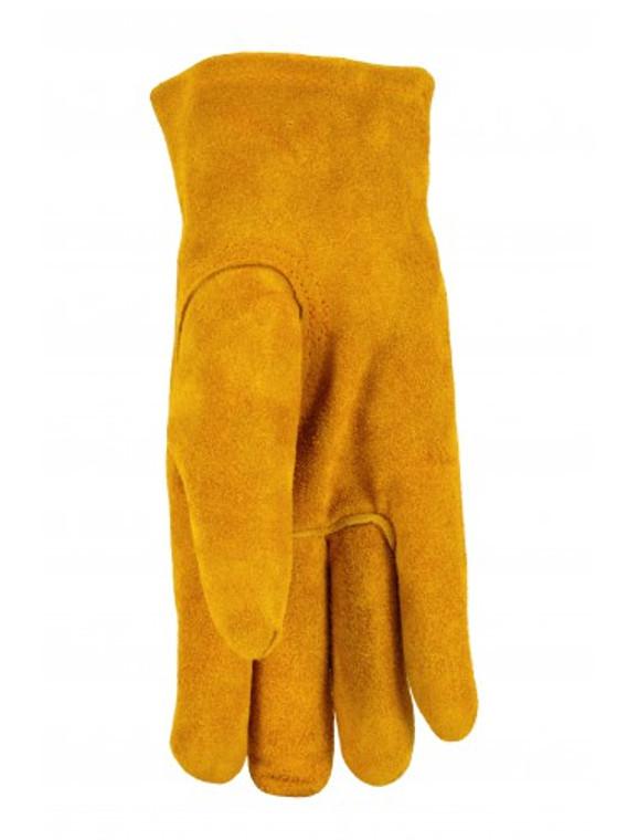 JustForKids 5013 Kids Genuine Leather Work Gloves, Kids Garden Gloves, 1 pair