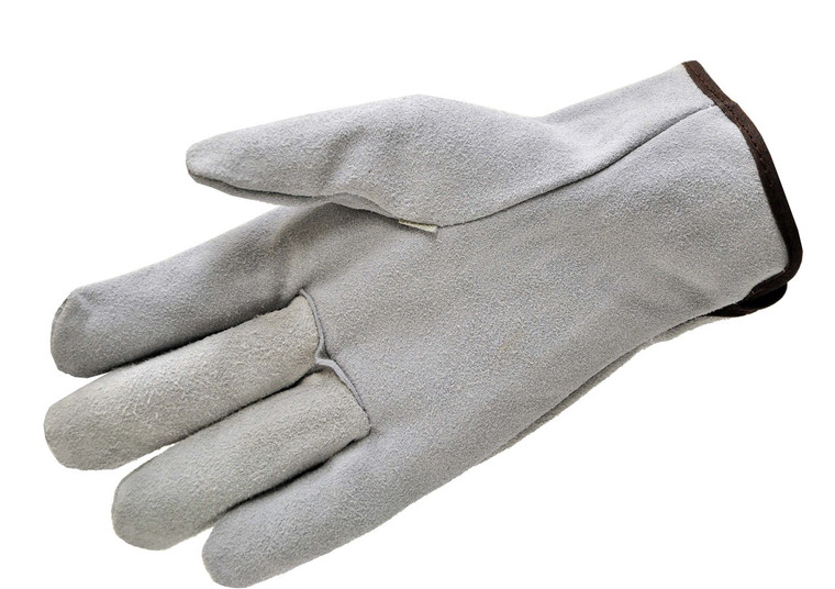 6050-3 Suede Cowhide Leather Work Gloves, Sold by each-  3 Pairs