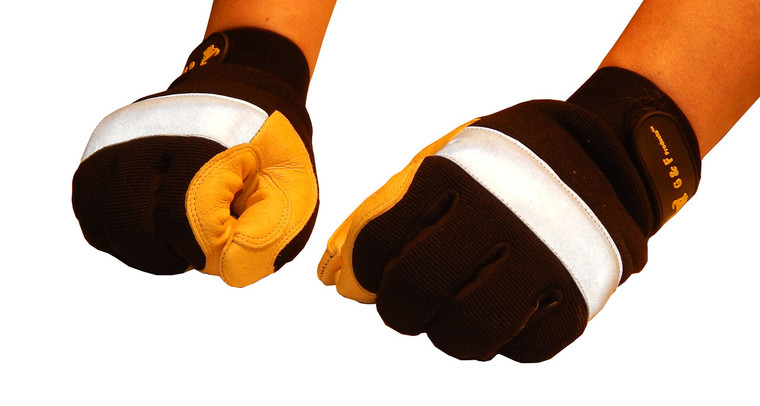 1091 High Visibility Reflective Mechanics Work Gloves, Sold by each- 1 Pair