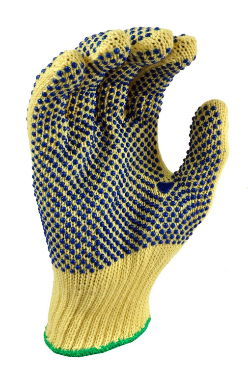 1670 PVC Dotted Knit Cut Resistant Work Gloves, Sold by each- 1 Pair