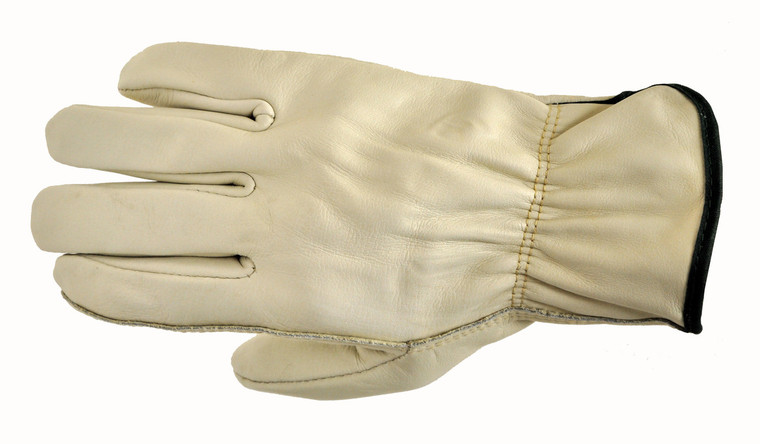 6003-3 Grain Cowhide Leather Work Gloves, Sold by each- 3 Pairs